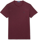 Polo Ralph Lauren Slim-fit Striped Cotton-jersey T-shirt - Red