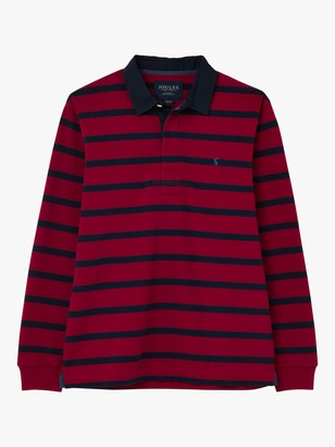 Joules Onside Cotton Stripe Rugby Polo Shirt