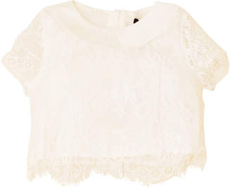 Island Kids & Kids Isle Girl's Lace Peter Pan Collar Top, Size 4-12