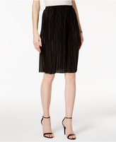 MSK Plissé Pleated Knee-Length Skirt