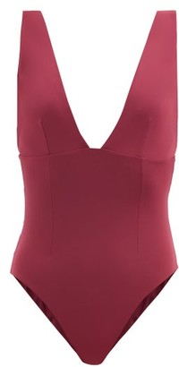Haight Raquel V-neck Jersey Swimsuit - Burgundy