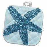 "3D Rose Big Blue Starfish-Beach Theme Art Pot Holder, 8"" x 8"""