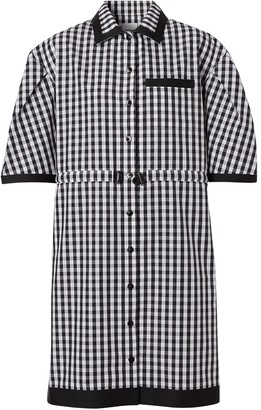 Burberry Puff Sleeve Gingham Shirt Dress