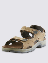 Blue Harbour Leather Twin Strap Riptape Sandals