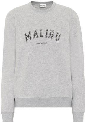 Saint Laurent Cotton-blend jersey sweatshirt