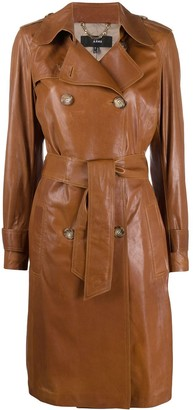 Arma Leather Trench Coat