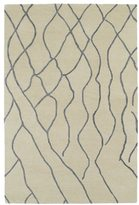 Peaks Hand-tufted Utopia Ivory Wool Rug (8' x 11')
