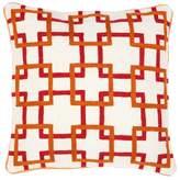 Eichholtz Bradbury Cushion Orange Red Wool Cotton 50x50cm