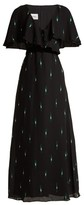 Valentino Crystal-embellished Silk Crepe De Chine Gown - Womens - Black Multi