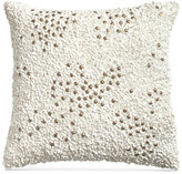 "Donna Karan Home Reflection Gold Dust 12"" Square Sequin Decorative Pillow"