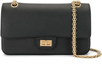 Chanel Pre Owned 2.55 Quilted Double Flap Chain Shoulder Bag