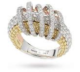 Fope 18ct Three Colour Solo Mialuce 0.70ct Diamond Ring