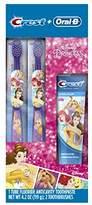 Oral-B and Crest Kids Pack FeaturingKids Fluoride Anticavity Toothpaste and Two Toothbrushes