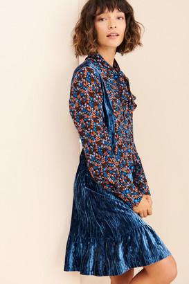 Anna Sui Crinkle Velvet Dress