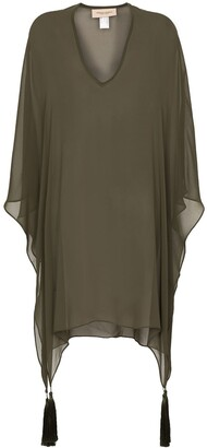 Adriana Degreas Sheer Tassel Detail Cover-Up