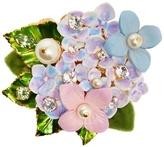 Dolce & Gabbana Hydrangea embellished brooch