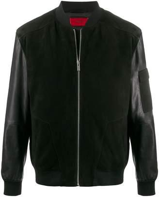 HUGO BOSS Luins panelled bomber jacket