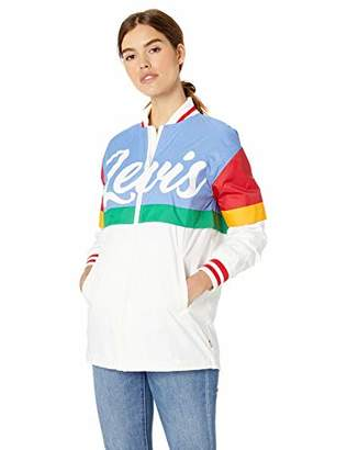Levi's Women's Lightweight Colorblocked Long Logo Bomber Jacket