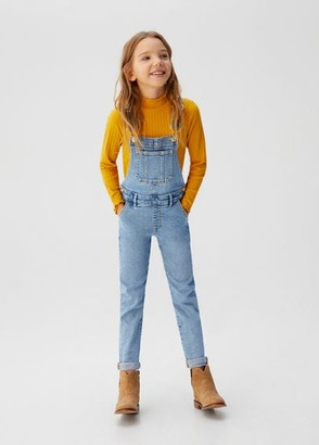 MANGO Long denim dungarees