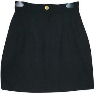 Gaultier Junior Black Wool Skirt for Women Vintage