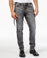 GUESS Men's Slim-Fit Tapered Jeans with Suspenders