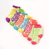 Pink Cookie 6-pk. Neon Cheetah Socks - Baby