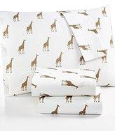 Martha Stewart WHIM Collection 100% Cotton Sheet Set Sparkley Giraffes King Size