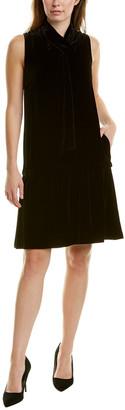 Lafayette 148 New York Abbie Silk-Blend Shift Dress