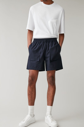 Cos Cotton Shorts With 3d Pockets
