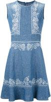 Ermanno Scervino embroidered sleeveless dress - women - Cotton/Linen/Flax - 44