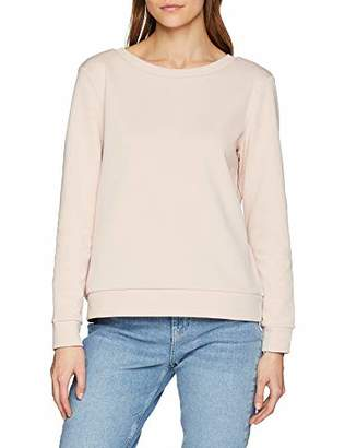 Melange Home VILA CLOTHES Women's Vinolivia L/s Open Back Sweat Top-fav Nx Jumper, Light Grey Melange, 12 (Size: Medium)