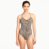J.Crew T-back one-piece swimsuit in leopard print