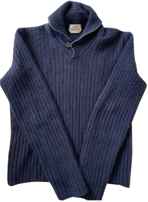 Hermes Navy Cashmere Knitwear