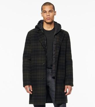 Marc New York   Final Sale Walthan Novelty Wool Hooded Coat
