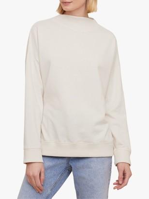 Jigsaw Super Soft Fleece Sweatshirt, Ecru