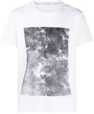 Calvin Klein Jeans bleached graphic T-shirt