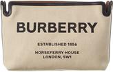 Burberry Medium Horseferry Print Canvas & Leather Clutch