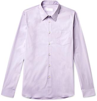 Prada Slim-Fit Cotton-Blend Poplin Shirt