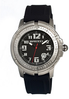 Breed Silver & Black Mach 1 Swiss Watch