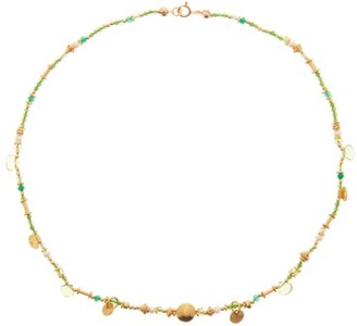 Katerina Makriyianni - Peridot & Gold-plated Sterling-silver Necklace - Green Multi