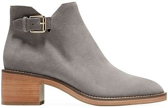 Cole Haan Harrington Grand Buckle Suede Ankle Boots