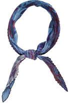 Hermes Silk Plissé Scarf