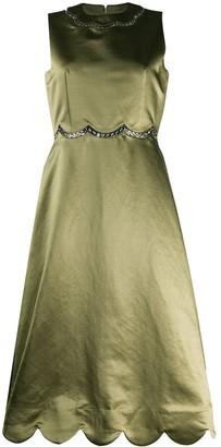 Comme des Garcons Sleeveless Flared Midi Dress