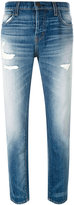 Current/Elliott distressed straight jeans - women - Cotton - 24