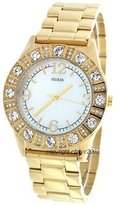 GUESS GUESS? Women's G95483L Gold Stainless-Steel Quartz Watch with Mother-Of-Pearl Dial