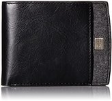Dockers Extra Capacity Slimfold Wallet with Ornament Logo and Fabric Inlay