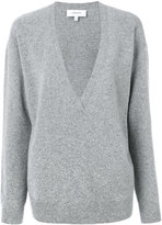 Carven v-neck sweater - women - Polyamide/Spandex/Elastane/Wool - S