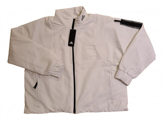 adidas White Polyester Jackets