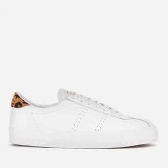 Superga Women's 2843 Comflealeopardu Leather Trainers - White/Animal
