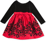 Rare Editions Baby Girls' Red & Black Party Dress